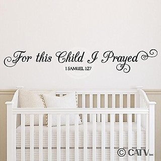 For This Child I Prayed 1 Samuel 1:27 (M) Wall Saying Vinyl Lettering Home Decor Decal Stickers Quotes