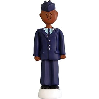 Ornament Central OC-078-AA African/American Air Force Armed Forces Figurine