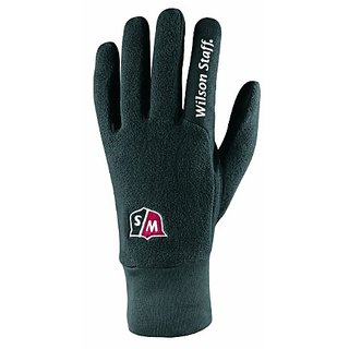 Wilson Staff Mens Rain and Winter Golf Gloves (Large, Black)