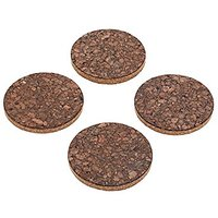 Natural Elements Cork Coasters, Set Of 4
