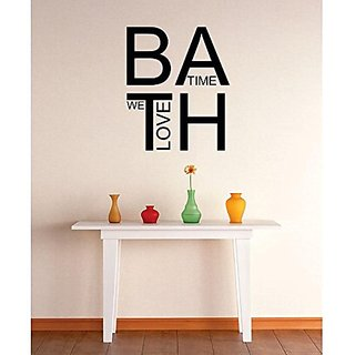 Design with Vinyl 3 Zzz 204 Decor Item Love Bath Time Bathroom Quote Wall Decal Sticker, 20 x 20-Inch, Black