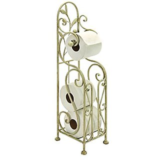 Metal Toilet Paper Holder, 24 By 8-inch, White