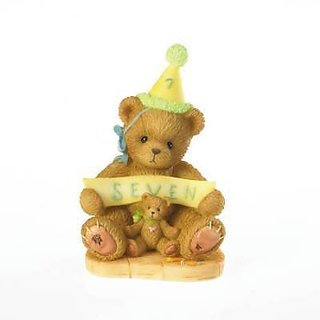 Cherished Teddies Age 7 Sign Says Youre Seven Through the Years Series 4020578 - NEW!