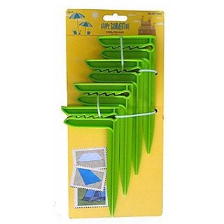 Beach Towel Blanket Anchor Clips, Green