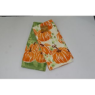 Harvest Season Pumpkin Kitchen Towels, Set of 2