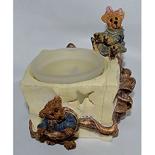 Boyds Bearstone Bailey and Matthew... The Gift Votive #27723