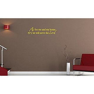 Vinyl Say M.Yellow -44x10-1261.AsFor As For Me and My House We Will Serve The Lord Wall Decal, 44-Inch x 10-Inch, Matte