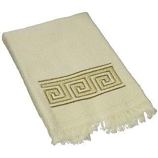 Avanti Linens Greek Key Fingertip Towel, Ivory