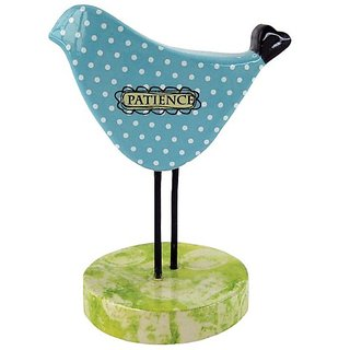 Westland Giftware Amylee Weeks Bird Figurine, 4-Inch High, Patience