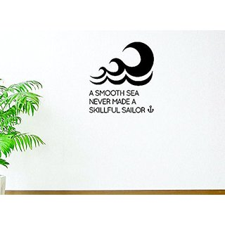 Design with Vinyl Moti 1695 2 A Smooth Sea Never Made A Skillful Sailor Text Lettering Inspirational Life Quote Peel & S