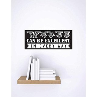 Design with Vinyl 1 C 2302 Decor Item You Can be Excellent in Every Way Image Quote Wall Decal Sticker, 10 x 20-Inch, Bl