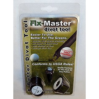 Golf Ball Mark Repair Tool - Fix-Master Divot Repair Tool Fastens To The End Of Putter - Best Golf Divot Tool Conforms t
