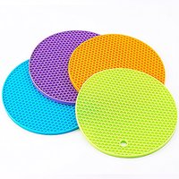 FlyingColors Silicone Heat Resistant Coasters Cup Insulation Mat (Set Of 4)