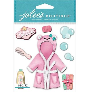 Jolees Boutique Dimensional Stickers, Baby Girl Bath Time