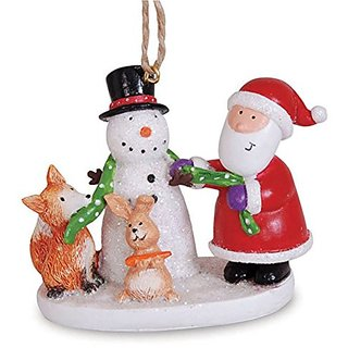 Cape Shore 2.5 Snowman and Santa Ornament
