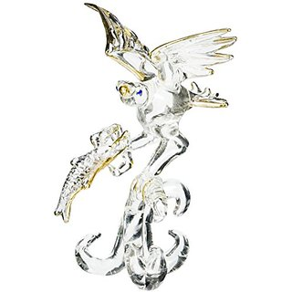 Unison Gifts VT-7360 5.5 In. Eagle With Fish Crystal Figure