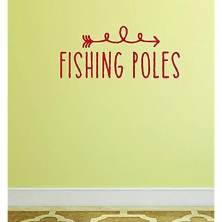 Design with Vinyl Moti 1545 2 Fishing Poles Outdoor Sports Wildlife Men Peel & Stick Wall Sticker Decal, 14