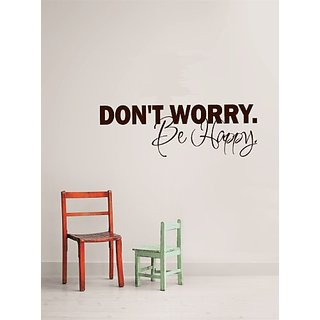 Design with Vinyl Dont Worry Be Happy - Famous & Inspirational Quotes - Vinyl Wall Decal - Color : Brown Size : 6X30 Bro