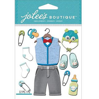 Jolees Boutique Dimensional Stickers, Baby Boy Outfit