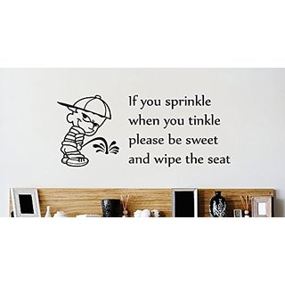 Design with Vinyl 3 Zzz 442 Decor Item if You Sprinkle When You Tinkle Please be Sweet and Wipe The Seat Bathroom Image