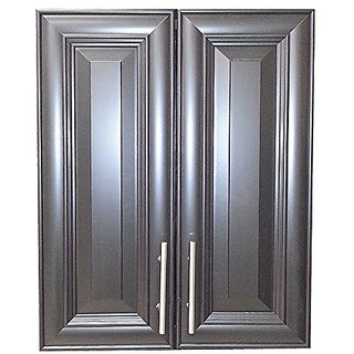 Wood Cabinets Direct TER-632-BL Terrell 2-Door on The Wall Frameless Medicine Cabinet, 3.5