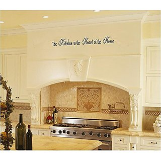 Kitchen Quote Removable Vinyl Wall Decal - The Kitchen Is the Heart of the Home - 36