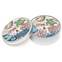 Michel Design Works 12 Count Sea Life Coasters In Tin, Multicolor