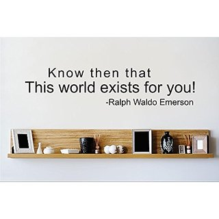 Design with Vinyl 2 Zzz 566 Decor Item Know Then That This World Exist for You Quote Wall Decal Sticker, 12 x 30-Inch, B