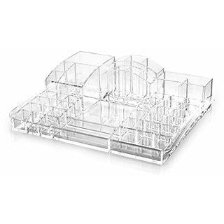 BINO The Supreme 43 Compartment Acrylic Makeup and Jewelry Organizer