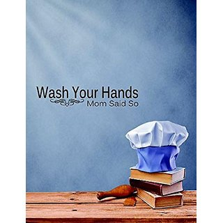 Design with Vinyl 1 C 2022 Decor Item Wash Your Hands Mom Says So Quote Wall Decal Sticker, 10 x 20-Inch, Black