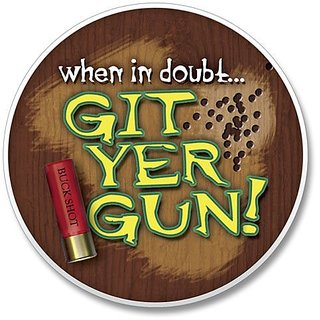 AutoCoaster ~ Git Yer Gun ~ Tile Drink Coaster for car cupholder - code 015