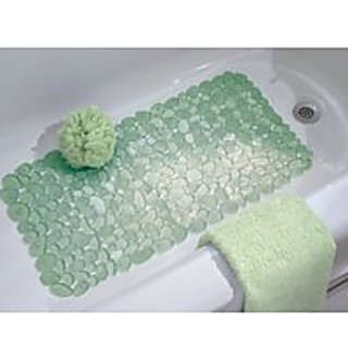 Interdesign Bath Mat Pebble Design Green 26.5