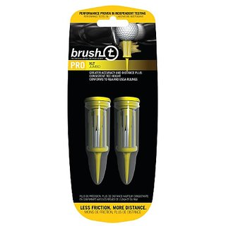 Brush-T Durable Low-Resistance Consistent Height Plastic Tees
