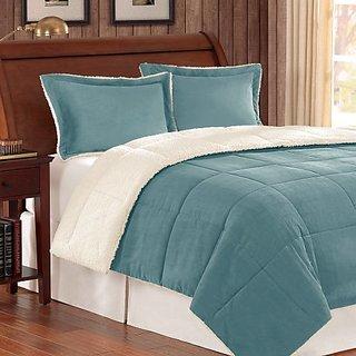 Premier Comforter Corduroy/Berber Comforter Mini Set, King, Blue