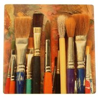 Set Of Four Artist Brushes Drink Coasters - Style F9120