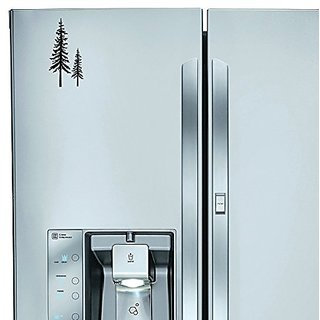 StickAny Kitchen Appliance Series Redwood Trees Sticker for Refrigerators, Dishwashers, and More! (Black)