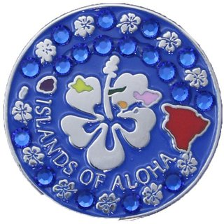 Bella Crystal Collection-USA Islands of Aloha Hat Clip Set, Blue