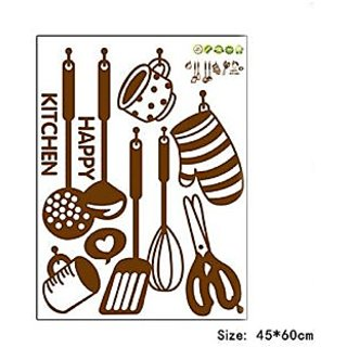 Wangyue Cartoon Kitchenware Kitchen Tool Wall Decor Wall Stickers