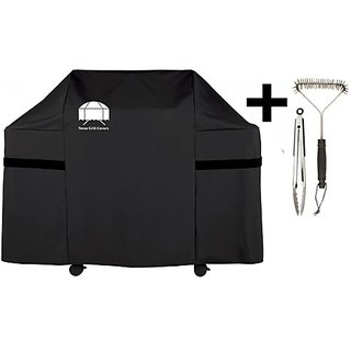 Texas Gas Grill Cover 7553 Premium Cover for Weber Genesis Gas Grill Including Grill Brush and Tongs
