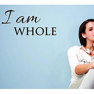 Design with Vinyl Moti 1831 1 I am Whole Inspirational Life Quote, Self Esteem Peel & Stick Wall Sticker Decal, 8
