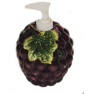 Purple Grapes Kitchen Countertop Soap Dispenser