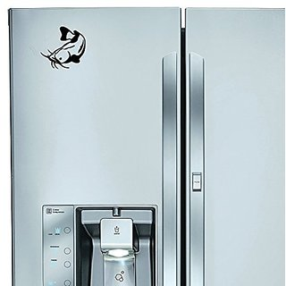 StickAny Kitchen Appliance Series Catfish Style 1 Sticker for Refrigerators, Dishwashers, and More! (Black)