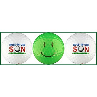 Hole-in-One Son w/ Smiley Face Golf Ball Gift Set