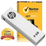 HP V-210 W 8 GB PEN DRIVE (Metal) + 1 Year Norton Antivirus
