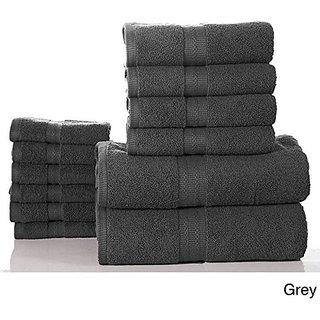 Bano Senses Egyptian Cotton 600 GSM 12-piece Towel Set (Grey)