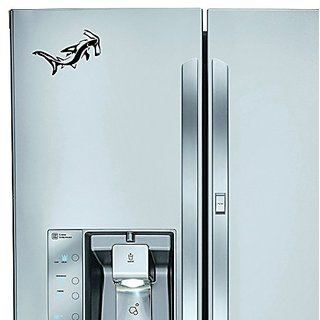 StickAny Kitchen Appliance Series Hammerhead Shark Sticker for Refrigerators, Dishwashers, and More! (Black)