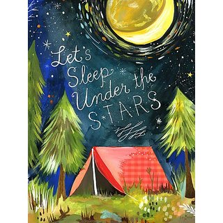 Oopsy Daisy Posters That Stick Wall Decal Lets Sleep Under The Stars by Katie Daisy, 18 by 24-Inch