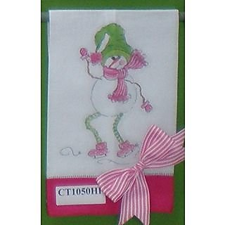 Christmas Holiday Mary Lou Ice Dancer Linen Tea or Hand Towel