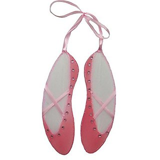The Butterfly Grove Ballet Point Shoes Decoration Nylon Mesh Hanging Decor, Pink Carnation, Small, 5