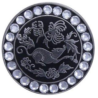 Bella Crystal Zodiac Silver-Rat Hat Clip Set